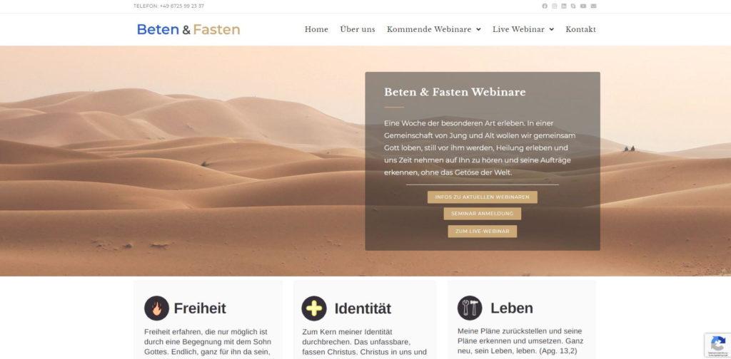 Referenz Christlicher Webdesigner, christliches Webdesign, Jesus