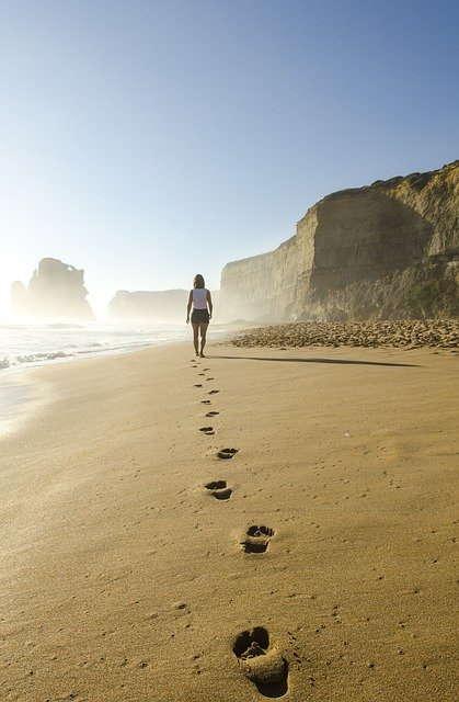Spuren im Sand christlich